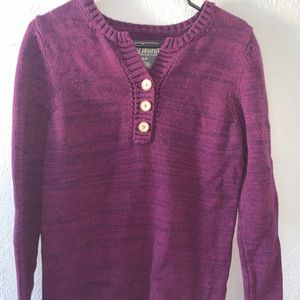 natural reflections button sweater